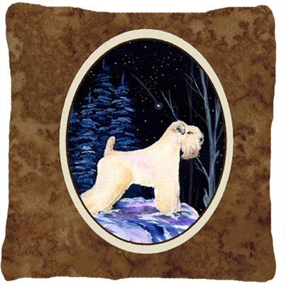 Starry Night Wheaten Terrier Soft Coated Indoor/Outdoor Throw Pillow