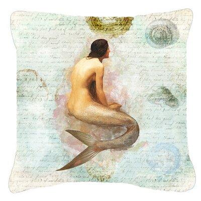 Mermaids and Mermen Indoor/Outdoor Throw Pillow Size: 14 H x 14 W x 4 D