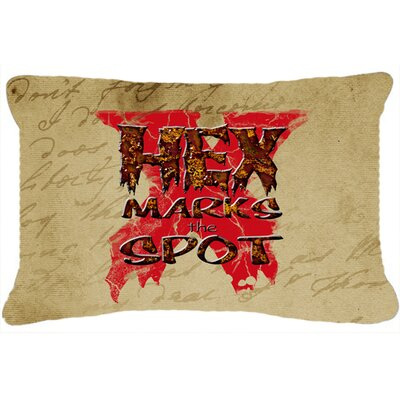Hex Marks The Spot Halloween Indoor/Outdoor Throw Pillow