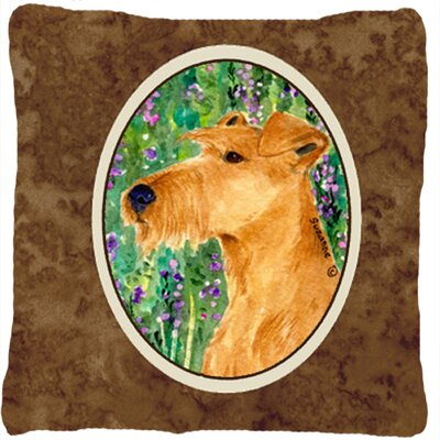 Irish Terrier Indoor/Outdoor Throw Pillow