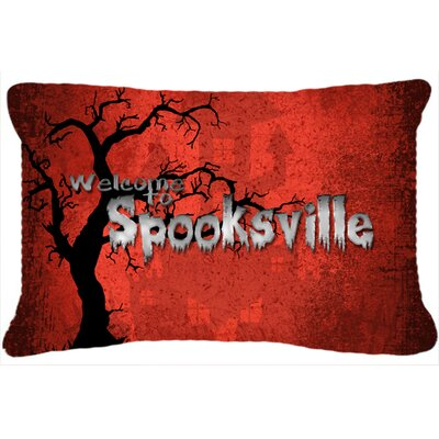 Welcome To Spooksville Halloween Indoor/Outdoor Throw Pillow