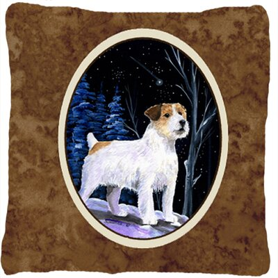 Starry Night Jack Russell Terrier Indoor/Outdoor Throw Pillow