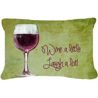 Orlando Wine A Little Laugh A Lot Indoor/Outdoor Throw Pillow