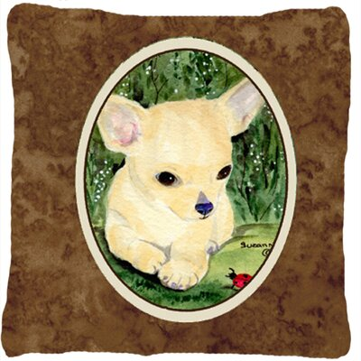 Chihuahua Indoor/Outdoor Brown Throw Pillow