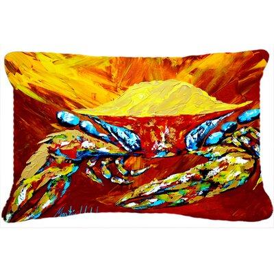 Crab Buster Brown Indoor/Outdoor Throw Pillow