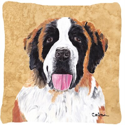 Saint Bernard Indoor/Outdoor Throw Pillow