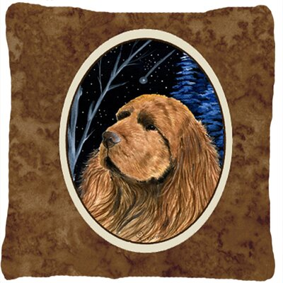 Starry Night Sussex Spaniel Indoor/Outdoor Throw Pillow