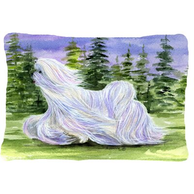 Maltese Indoor/Outdoor Throw Pillow