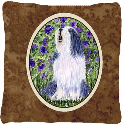 Bearded Collie Modern Indoor/Outdoor Throw Pillow