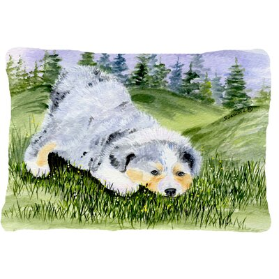 Australian Shepherd Indoor/Outdoor Rectangular Throw Pillow