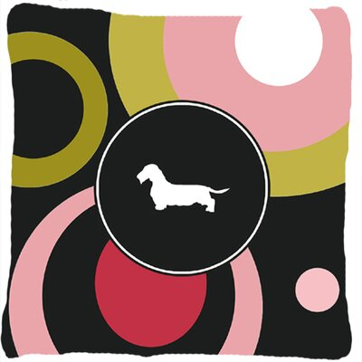Dachshund Graphic Print Black Indoor/Outdoor Throw Pillow
