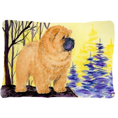Chow Chow Graphic Print Indoor/Outdoor Throw Pillow