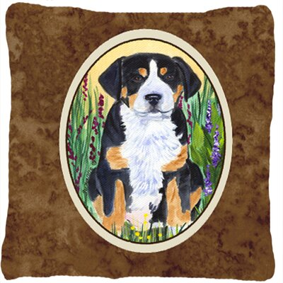 Greater Swiss Mountain Dog Square Indoor/Outdoor Throw Pillow