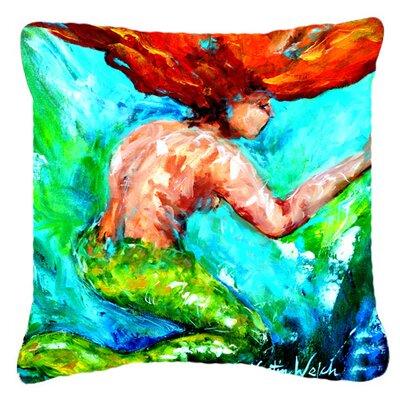 Mermaids Heaven Indoor/Outdoor Throw Pillow Size: 18 H x 18 W x 5.5 D