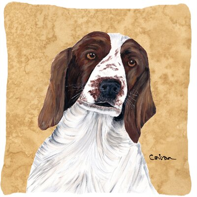 Square Springer Spaniel Indoor/Outdoor Throw Pillow