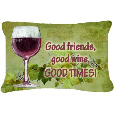 Good Friends, Good Wine, Good Times Indoor/Outdoor Throw Pillow