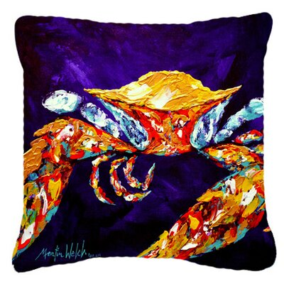 Crab The Right Stuff Indoor/Outdoor Throw Pillow Size: 14 H x 14 W x 4 D