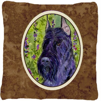 Scottish Terrier Indoor/Outdoor Brown Throw Pillow