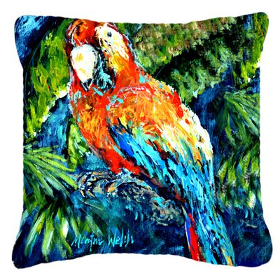 Yo Yo Mama Parrot Indoor/Outdoor Throw Pillow Size: 14 H x 14 W x 4 D