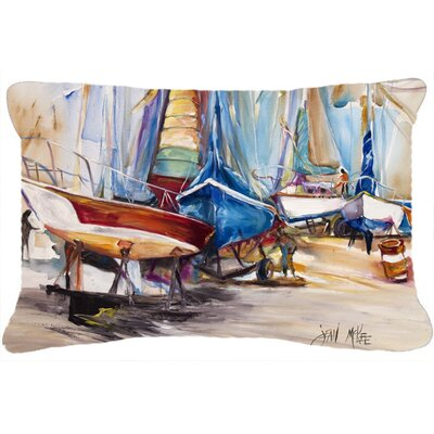 On The Hill Sailboats Indoor/Outdoor Throw Pillow