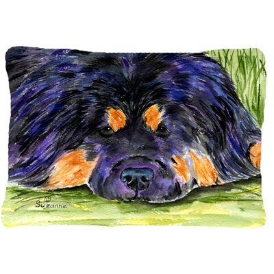 Tibetan Mastiff Contemporary Indoor/Outdoor Throw Pillow