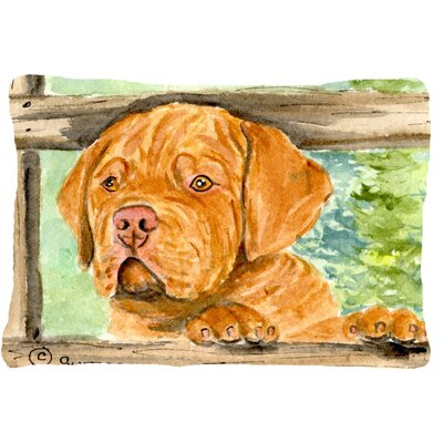 Dogue De Bordeaux Rectangular Indoor/Outdoor Throw Pillow