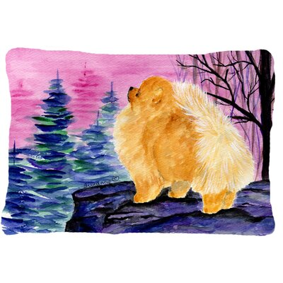 Pomeranian Graphic Print Indoor/Outdoor Throw Pillow