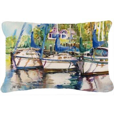 Safe Harbour Sailboats Indoor/Outdoor Throw Pillow