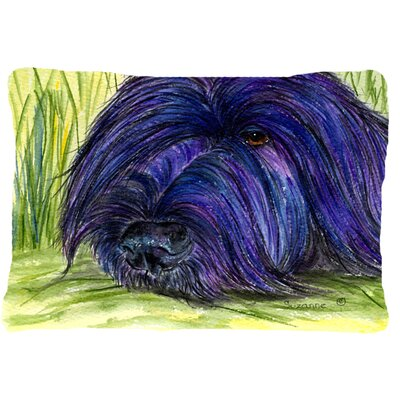 Briard Rectangular Blue/Green Indoor/Outdoor Throw Pillow