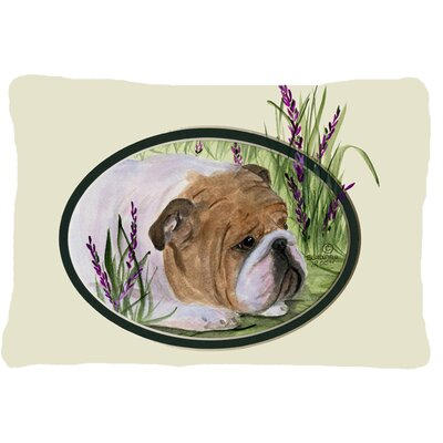 English Bulldog Indoor/Outdoor Rectangular Throw Pillow