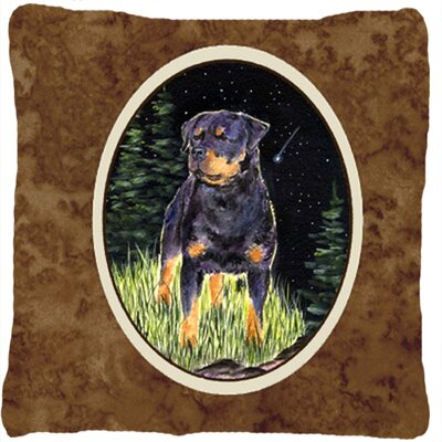 Starry Night Rottweiler Indoor/Outdoor Throw Pillow