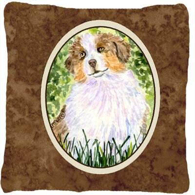 Australian Shepherd Brown Indoor/Outdoor Throw Pillow