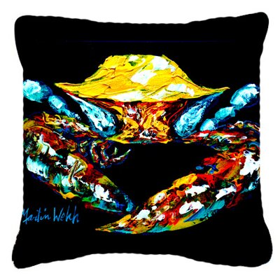 Winner Winner Black Fiddler Crab Indoor/Outdoor Throw Pillow Size: 14 H x 14 W x 4 D