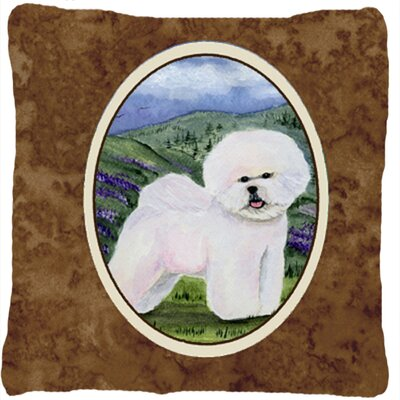 Bichon Frise Indoor/Outdoor Contemporary Throw Pillow
