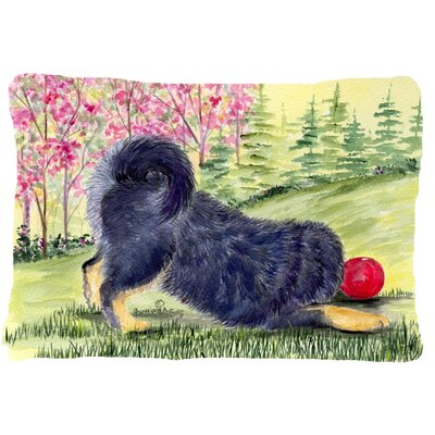 Tibetan Mastiff Rectangular Indoor/Outdoor Throw Pillow