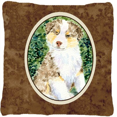Australian Shepherd Square Brown Indoor/Outdoor Throw Pillow