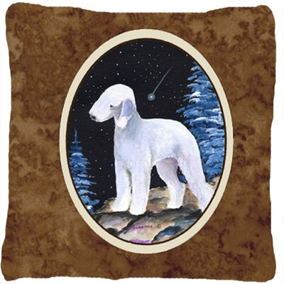 Starry Night Bedlington Terrier Indoor/Outdoor Throw Pillow