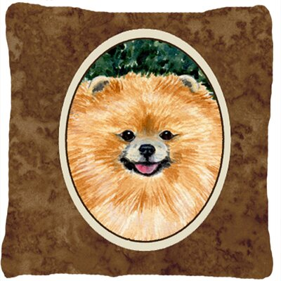 Pomeranian Indoor/Outdoor Square Throw Pillow