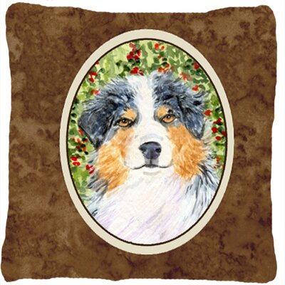 Australian Shepherd Indoor/Outdoor Graphic Print Brown Throw Pillow