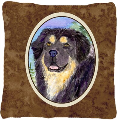 Tibetan Mastiff Contemporary Square Indoor/Outdoor Throw Pillow