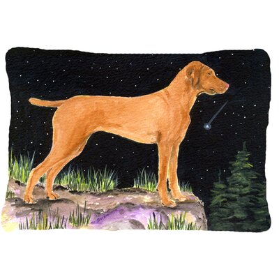 Starry Night Vizsla Indoor/Outdoor Throw Pillow