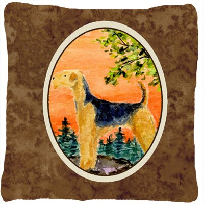 Airedale Indoor/Outdoor Throw Pillow