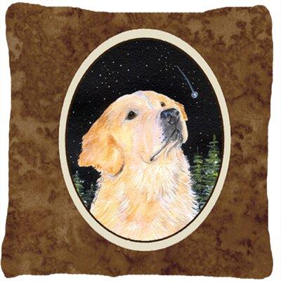 Starry Night Golden Retriever Indoor/Outdoor Throw Pillow