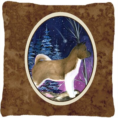 Starry Night Akita Indoor/Outdoor Throw Pillow