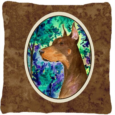 Doberman Graphic Print Indoor/Outdoor Throw Pillow