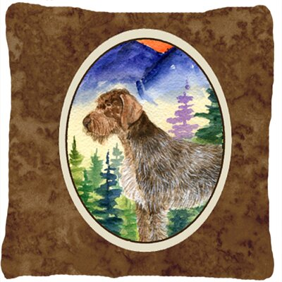 German Wire Haired Pointer Indoor/Outdoor Throw Pillow