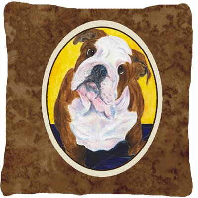 English Bulldog Brown Indoor/Outdoor Throw Pillow
