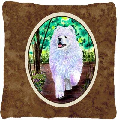Samoyed Brown Indoor/Outdoor Throw Pillow