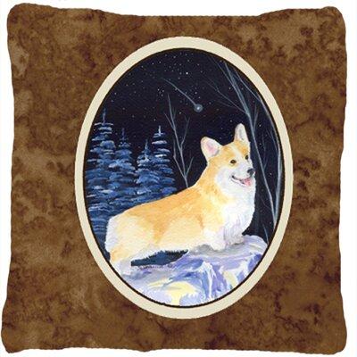 Starry Night Corgi Indoor/Outdoor Throw Pillow