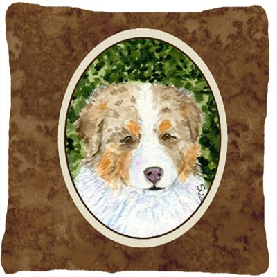 Australian Shepherd Indoor/Outdoor Brown Throw Pillow
